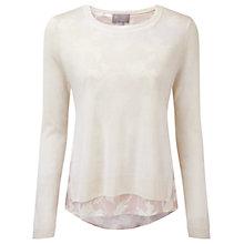 Buy Pure Collection Broadway Double Layer Sweater, Linen White Online at johnlewis.com