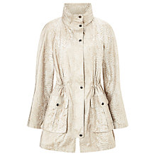 Buy Four Seasons Embossed Parka, Taupe Online at johnlewis.com