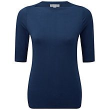 Buy Pure Collection Laurier Jersey Slash Top, French Navy Online at johnlewis.com