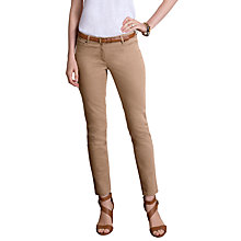 Buy Pure Collection Jenkins Crop Jeans, Sand Online at johnlewis.com