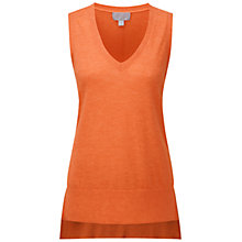 Buy Pure Collection Hope Cashmere Tank Top, Sunset Orange Online at johnlewis.com