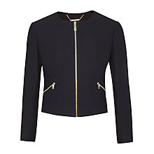 Buy Ted Baker Halis Cropped Textured Gathered Jacket Online at johnlewis.com
