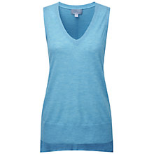 Buy Pure Collection Maria Featherweight Cashmere Tank Top, Silver Teal Online at johnlewis.com