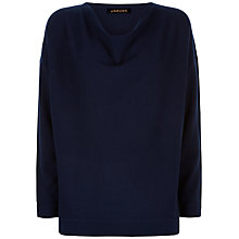 Buy Jaeger Wool Cashmere Slouchy Jumper, Navy Online at johnlewis.com