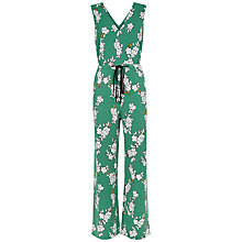 Buy Jaeger Blossom Outline Jumpsuit, Green Online at johnlewis.com