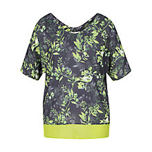 Buy Celuu Meg Bird Print Kaftan Top, Purple/Multi Online at johnlewis.com