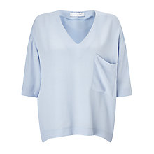 Buy Samsoe & Samsoe Linne Top, Kentucky Blue Online at johnlewis.com