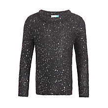 Buy John Lewis Girls' Sequin Jumper, Grey Online at johnlewis.com