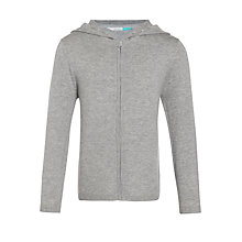 Buy John Lewis Girls' Zip Through Cardigan, Grey Online at johnlewis.com