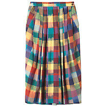 Buy Toast Woven Ikat Check Skirt, Multi Online at johnlewis.com