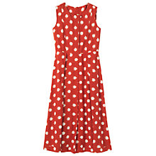 Buy Toast Woven Ikat Spot Dress, Madder/White Online at johnlewis.com