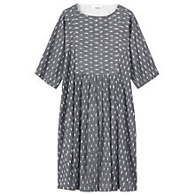 Buy Toast Woven Ikat Dress, Grey/Off White Online at johnlewis.com