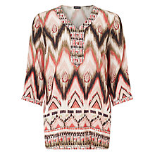 Buy Gerry Weber Aztec Print Tunic Top, Multi Online at johnlewis.com