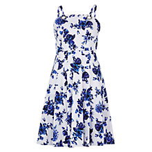 Buy Louche Kami Printed Dress, White/Blue Online at johnlewis.com