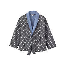 Buy Toast Ikat Quilted Kimono Jacket, Grey/Off White Online at johnlewis.com