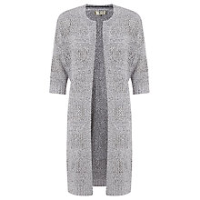 Buy Selected Femme Elisy 3/4 Knit Cardigan, Light Grey Online at johnlewis.com