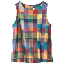Buy Toast Woven Ikat Check Top, Multi Online at johnlewis.com