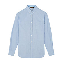 Buy Jaeger Oxford Cotton Shirt, Blue Online at johnlewis.com