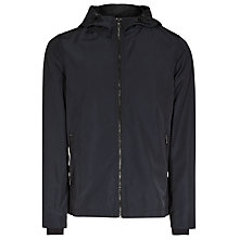 Buy Reiss Ribery Hooded Technical Jacket, Midnight Online at johnlewis.com