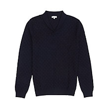 Buy Reiss Master Shawl Collar Knit Jumper, Navy Online at johnlewis.com