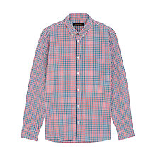 Buy Jaeger House Check Shirt, Anemone Red Online at johnlewis.com
