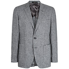 Buy Jaeger Linen Cotton Modern Fit Blazer, Grey Online at johnlewis.com