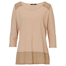 Buy Betty Barclay Cut Out Panel Top, Cream Online at johnlewis.com