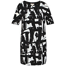 Buy Celuu Gina Geometric Print Dress, Black/White Online at johnlewis.com