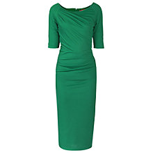 Buy Jolie Moi Half Sleeve Ruched Bodycon Dress, Green Online at johnlewis.com