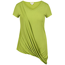 Buy Celuu Jo Drape Front Top, Green Online at johnlewis.com