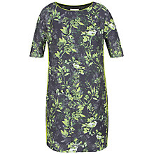 Buy Celuu Gina Bird Print Cocoon Dress, Purple/Multi Online at johnlewis.com
