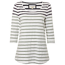 Buy White Stuff Coast Line Colour Block T-Shirt, Ceramic Green Online at johnlewis.com