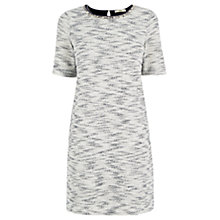 Buy Oasis Fringed Tweed Dress, Navy Online at johnlewis.com