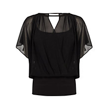 Buy Coast Carmen Calla Top, Black Online at johnlewis.com