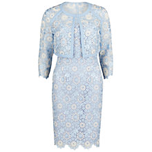 Buy Gina Bacconi Organza And Shantung Dress And Jacket, Blue Online at johnlewis.com