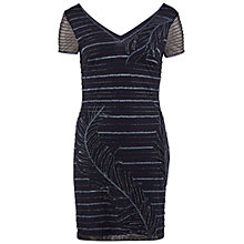 Buy Gina Bacconi Beaded Mesh Cocktail Dress, Navy Online at johnlewis.com