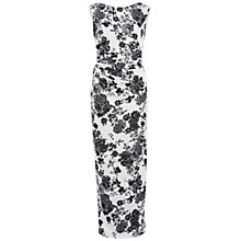 Buy Gina Bacconi Floral Pique Knit Dress With Boat Neck, White/Black Online at johnlewis.com