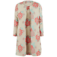 Buy Gina Bacconi Floral Jacquard Dress And Jacket, Coral Online at johnlewis.com