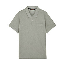 Buy Jaeger Supima Cotton Polo Shirt, Grey Melange Online at johnlewis.com