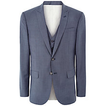 Buy Jaeger Wool Mohair Modern Fit Suit Jacket, Chambray Online at johnlewis.com