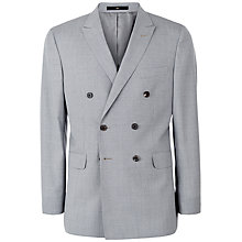 Buy Jaeger Wool Puppytooth Modern Double Breasted Suit Jacket, Pale Steel Online at johnlewis.com