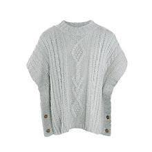 Buy John Lewis Girls' Cable Knit Poncho Online at johnlewis.com