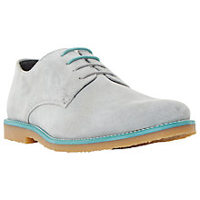 Buy Dune Bengal Suede Colour Pop Lace-Up Desert Shoes, Grey Online at johnlewis.com