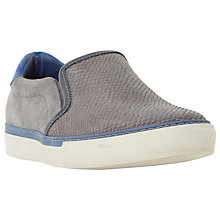 Buy Dune Troy Suede Embossed Colour Pop Slip-On Trainers Online at johnlewis.com