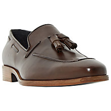 Buy Dune Rivers Classic Chisel Tassel Loafers, Brown Leather Online at johnlewis.com