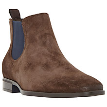 Buy Dune Maritime Suede Colour Pop Slip-On Chelsea Boots, Brown Online at johnlewis.com