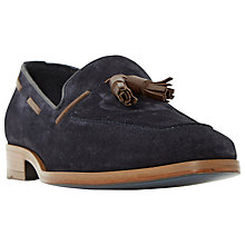 Buy Dune Rivers Double Tassel Leather Loafers, Navy Suede Online at johnlewis.com