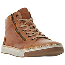 Buy Dune Spectrum Side Zip High Top Trainers, Tan Online at johnlewis.com