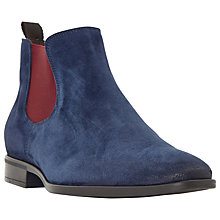 Buy Dune Maritime Suede Colour Pop Slip-On Chelsea Boots, Navy Online at johnlewis.com