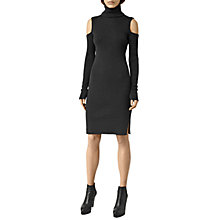 Buy AllSaints Bernt Open Shoulder Dress, Cinder Black Marl Online at johnlewis.com